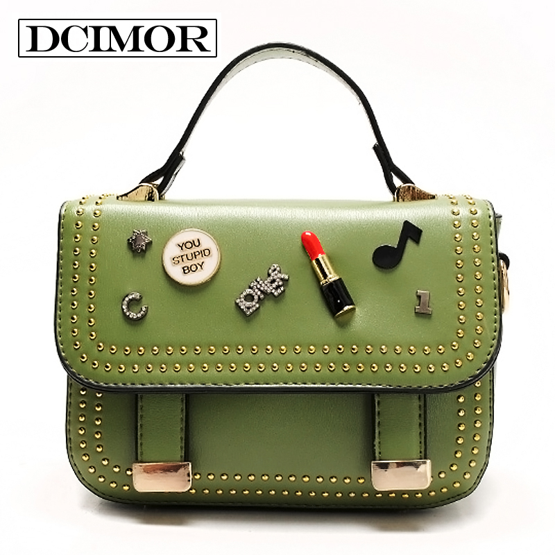 DCIMOR Fashion Brand PU Leather Messenger Bag Famous Brand Women Shoulder Bag Wo