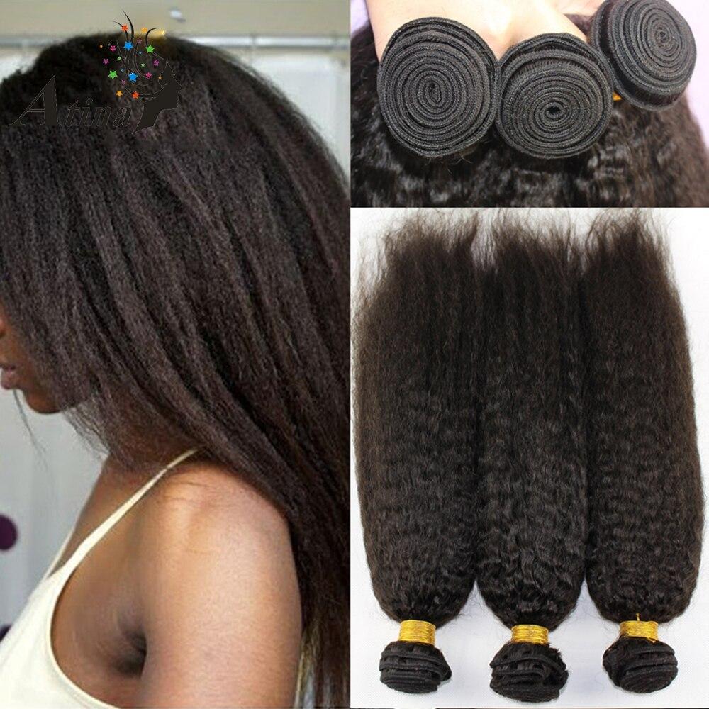 Italian Yaki Straight Filipino Kinky Straight Virgin Hair Weave Soft Italian Coarse Yaki Human Hair Extensions