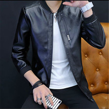 Mens Jacket 2019 New Autumn Youth Locomotive Leather clothing Spring and Fashion Wear men leather jackets