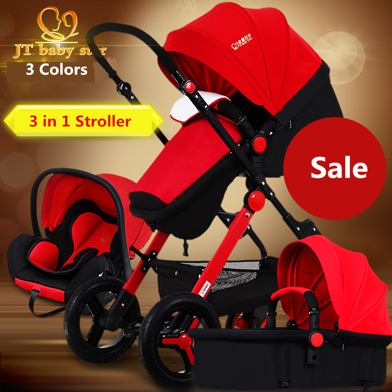 2018 High Landscape Baby Stroller Dual-use Stroller Four Wheel Inflatable Baby Stroller New Winter & Summer Dual Baby Stroller new luxury baby stroller high landscape three dimensional four round baby stroller