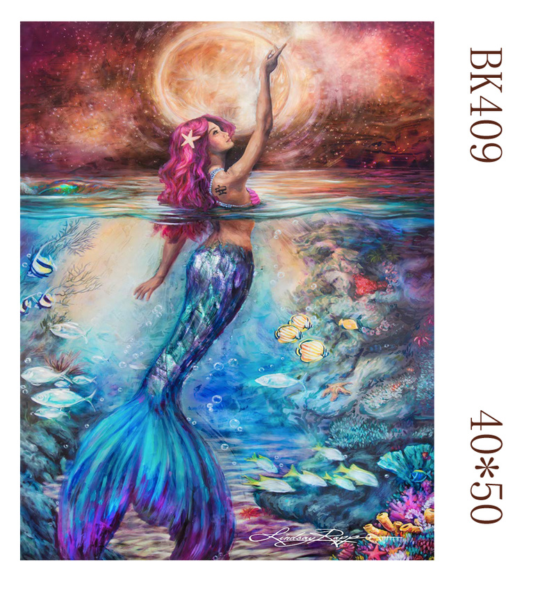 Mermaid Dancer Picture diy painting by numbers  Modern Wall Art Handpainted Oil Painting On Canvas For Home Decoration