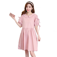 2018 Maternity Dress Patchwork Loose Pregnancy Clothes Bohemian Maternity Clothing Of Pregnant Women Chiffon Vestidos