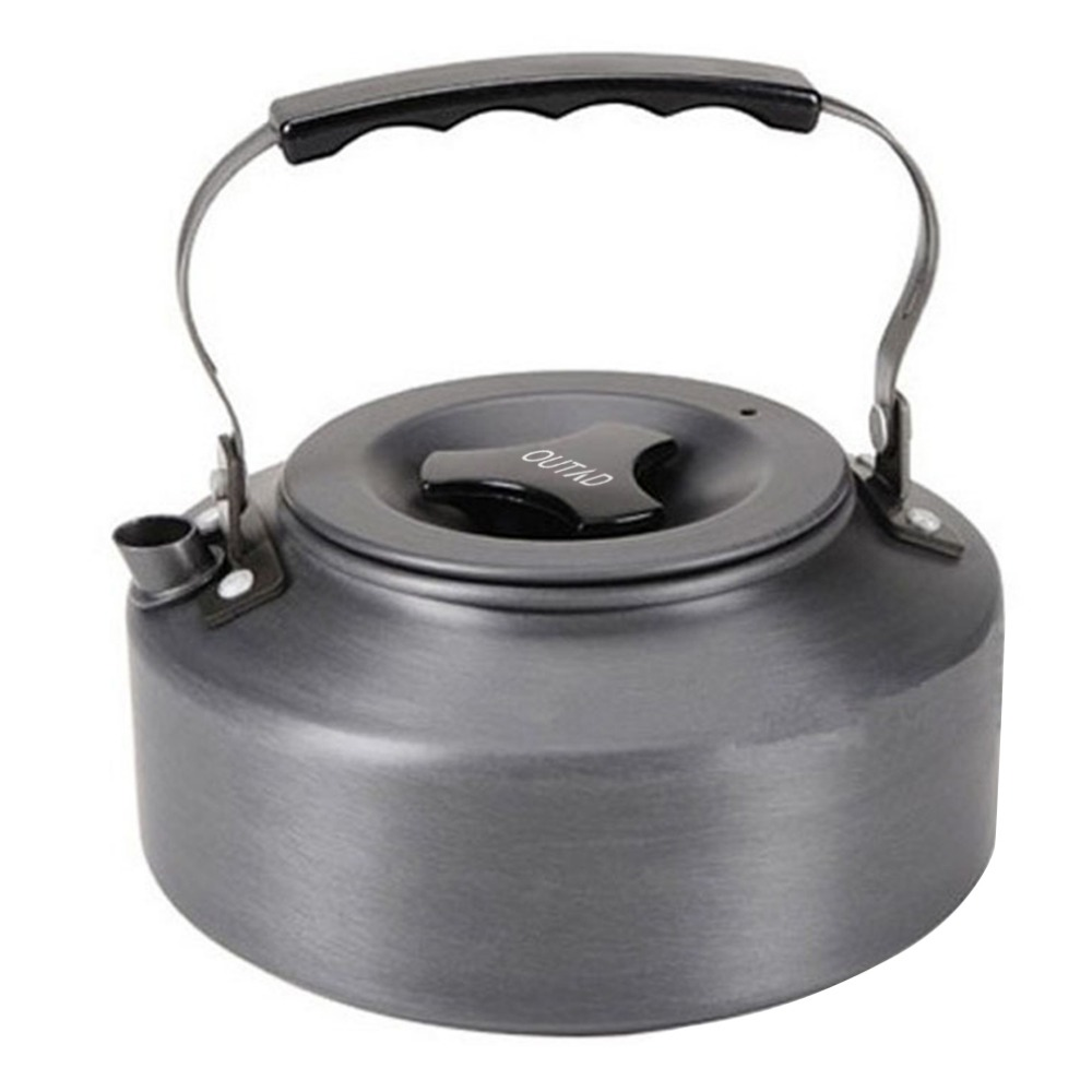 OUTAD 1.1L Kettle Picnic Camping Cookware Teapot Water Coffee Pot Aluminum Outdoor Hot Sale