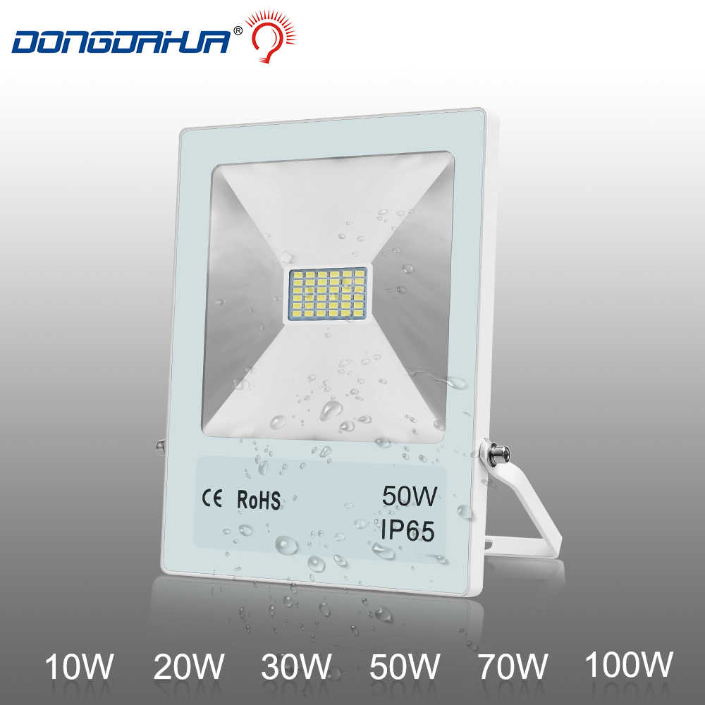 1PCS Ultrathin LED Flood Light 10W 20W 30W 50W 100W IP65 220V LED Spotlight Refletor Outdoor Lighting Wall Lamp Floodlight