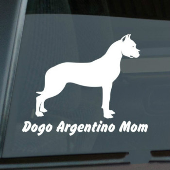Dogo Argentino Mom Sticker Die Cut Vinyl window decal Size(inch): 6.00 x 4.85 dogo argentino windshield sticker vinyl auto window v2 window decals
