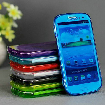 Summer Style High Quaility Soft TPU Case  For Samsung Galaxy S4 i9500 Transparent Gel Flip Cover 9 Colors Drop Ship