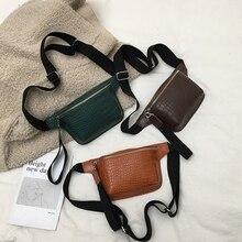 Women Chest Waist Bags Multicolor Messenger Cross Body Bag Fashion Fancy Pack Alligator Leather PU