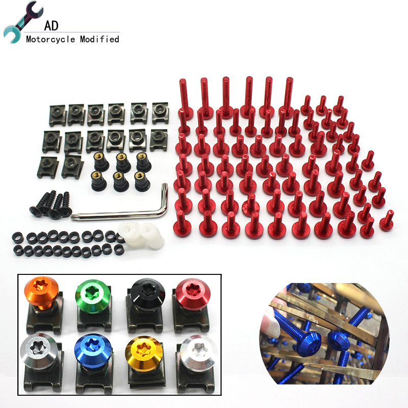 For Yamaha Motorcycle Glass Bolts for Windshield Windscreen Body Shell Nuts Screw 6MM & 5MM R6 R3 R15 R25 MT-07 MT-09 MT-03 @ motorcycle accessories fairing windshield body work bolts nuts screws for yamaha mt 01 mt 02 mt 03 mt 07 mt 09 tracer mt 10 abs