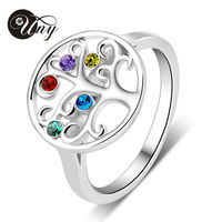 Mom S Personalized Special Unique Marquise Birthstone Ring 925 Sterling Silver Customized 5 Stone Engrave Family
