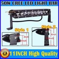 BRIGHT 50W 11IINCH CREE SPOT LED WORK LIGHT BAR KILL 100W OFFROAD DRIVING 4WD JW 99
