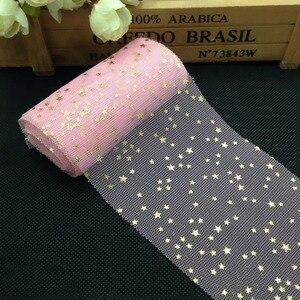 Image 1 - Tulle confettis à paillettes, 5m/rouleau, 6cm, décoration de gâteau, anniversaire et mariage bricolage même