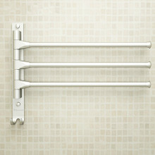 European Space Aluminium Towel Rack Toilet Towel Hanging with Hooks Bathroom Towel Rack Movable Towel Bars 4/3/2 Arms
