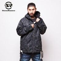 Буря бегун прохладный черный с белый стиль снег открытый спортивная куртка снег Лыжная куртка
