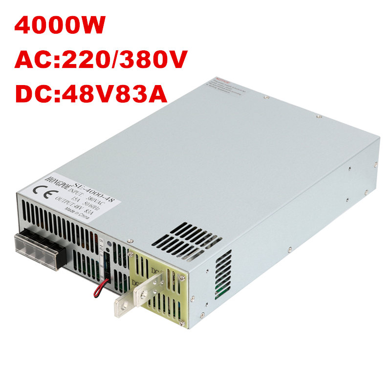 4000W 48V 83A DC 0-48v power supply 48V 83A AC-DC High-Power PSU 0-5V analog signal control SE-4000-48