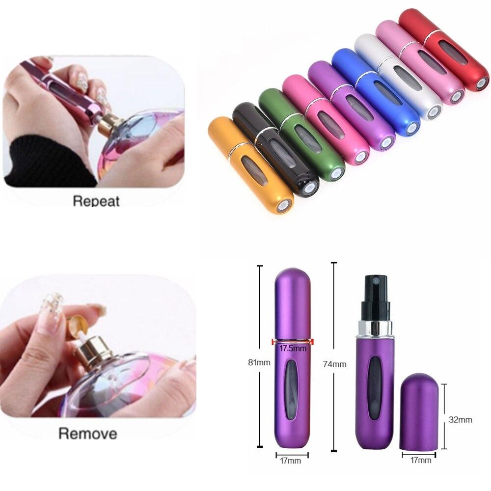 5ML Portable Mini Refillable Empty Perfume Spray Bottles Travel Atomizer Scent Lady Gift Fragrance Liquid Holder Bottle Pump