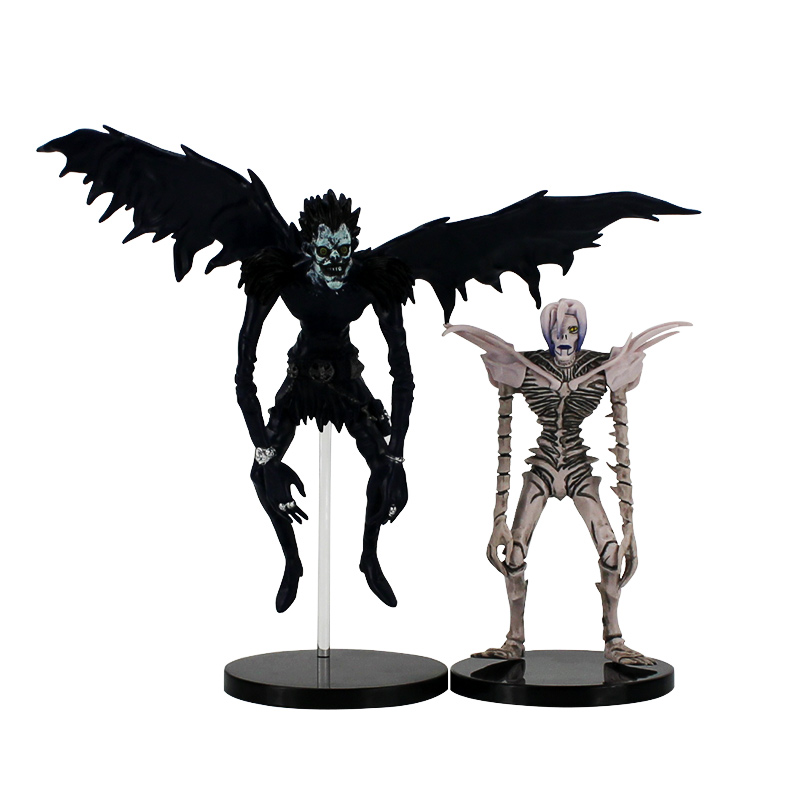 цена на 2pcs/lot 15-22cm Death Note Rem Ryuk Deathnote L PVC Figure Model Toy for growups gift