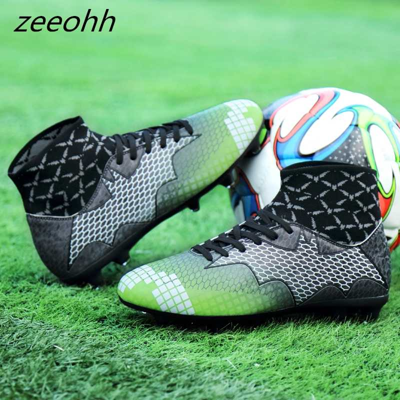 1e52eead76ae ... zeeohh Soccer Men's High Top Training Ankle AG Sole Outdoor Cleats  Football Shoes Spike High Ankle ...