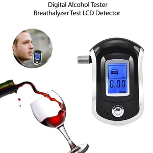 Image 5 - Breath Alcohol Testing Tester Analyzer Detector Alcohol Test LCD Digital Police Breathalyzer Blow Alcohol Content Tester Display
