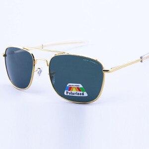 Image 5 - Солнцезащитные очки Мужские, армейские, поляризационные, сплав, для вождения, 57 мм, 52 мм