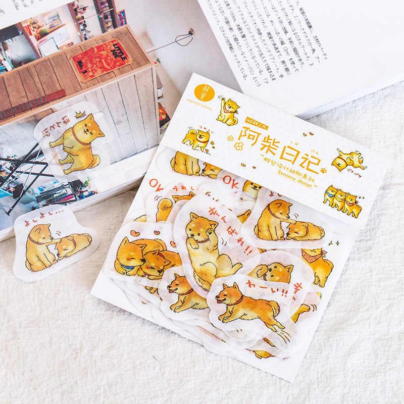 45 шт/лот милый стикер для канцелярских товаров набор милая собака Сиба-ину стикер Скрапбукинг дневник декоративная наклейка школьные принадлежности