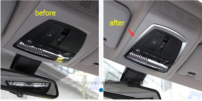 91f18b06dac7 Interior For BMW X4 2014 2015   X3 2014 Stainless Steel Roof Reading Lamp  Light Cover Trim 1 Pcs-in Interior Mouldings from Automobiles   Motorcycles  on ...