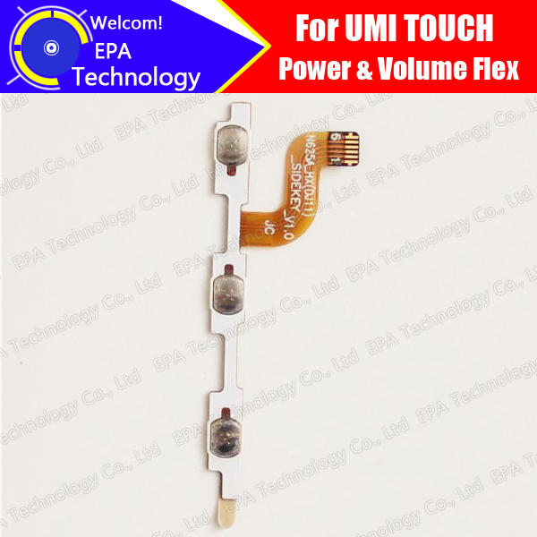 UMI TOUCH Side Button Flex Cable 100% Original Power + Volume Button FPC Wire Flex Cable repair parts for TOUCH