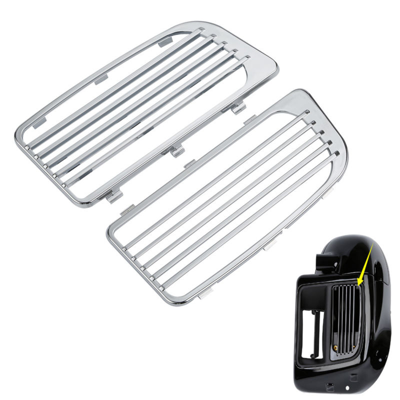 Chrome Radiator Grills For Harley Touring Models W Water Cooled System 14 18 17 Motorcycle