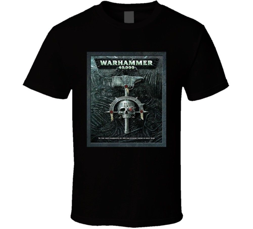 War Hammer Warhammer 40000 40k Video Game Logo T Shirt Short Sleeves Cotton Free Shipping Men T Shirt Short Sleeve Round Neck