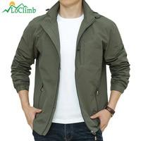 LoClimb Men's Windbreaker Man Waterproof Jacket Outdoor Sport Rain Coat Camping/Trekking/Fishing/Hiking Jackets For Men AM388