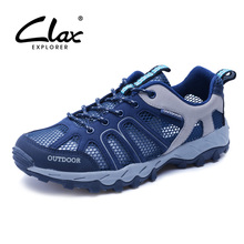 Clax Men's Water Shoes 2017 Summer Mesh Shoes for Male Outdoor Breathable Casual Footwear Walking Shoe