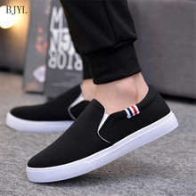 BJYL 2019 New Arrival Men Casual Shoes Canvas Male Footwear Comfortable Flat Sneakers Vulcanized Loafers B90