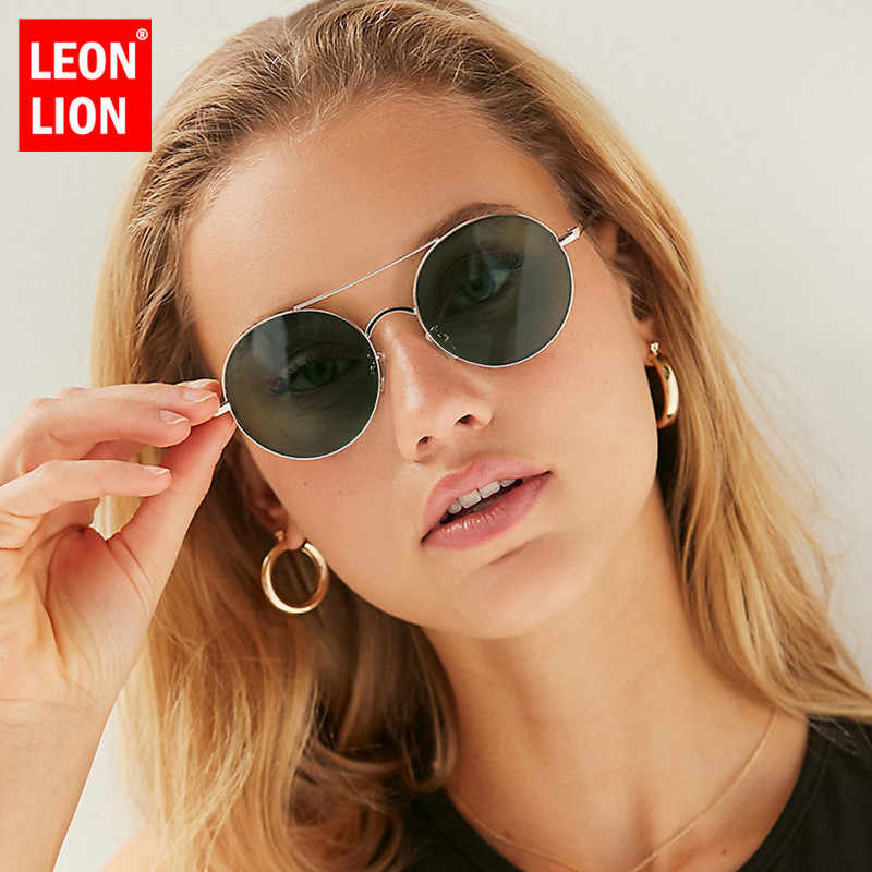 03c7aca4f7 LeonLion 2019 Round Alloy Sunglasses Women Vintage Glasses Lady Luxury  Ocean Lens Eyeglasses Mirror Oculos De