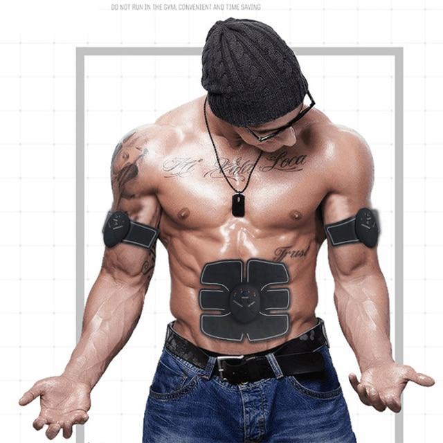 Construção do corpo de fitness máquina exercício abdominal treinador ems estimulador muscular elétrica cinto de emagrecimento