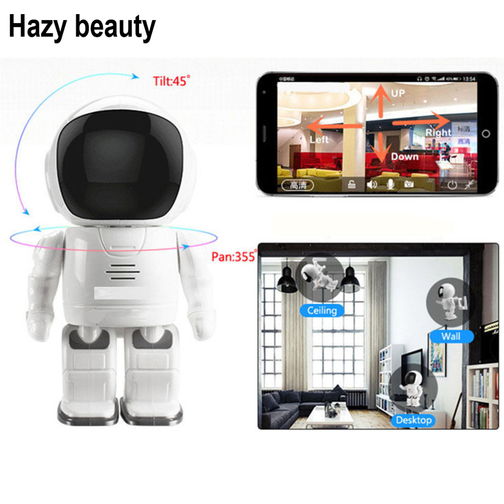 Hazy beauty 960P Robot Network IP Camera WIFI HD PTZ Audio P2P Onvif Night Vision SD TF Card Slot Security Cam Baby Monitor fumat stained glass lamp european style antique chandelier complex classic living room hotel glass art lamp curtains beads lamp