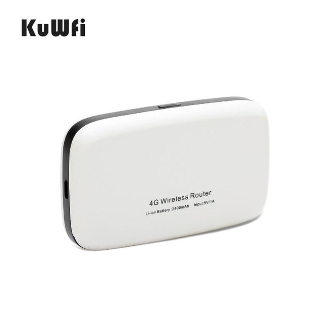 Router KuWFi 4G 150 mb/s bezprzewodowe routery Wifi 3G/4G LTE odblokowana globalna karta Sim TDD/FDD Router na kartę SIM i gniazdo karty TF