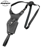 Universal Pistol Shoulder Holster Right Hand Pistol Pouch Leather Tactical Hunting Shooting Hide Gun Holster for Most Pistol