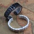 Pulseira de Cerâmica de alta qualidade cinta Preta homens banda 20mm watchbandn cerâmica PRETA pulseira de Relógio acessórios