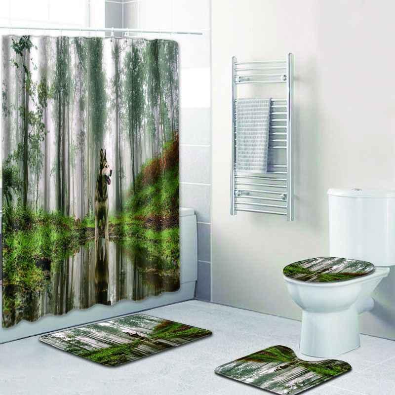 Detail Feedback Questions About Free Shipping Rose And Tree Casa De Banho  Banyo Bathroom Carpet Toilet Bath Mat Set Non Slip Tapis Salle De Bain  Alfombra ...