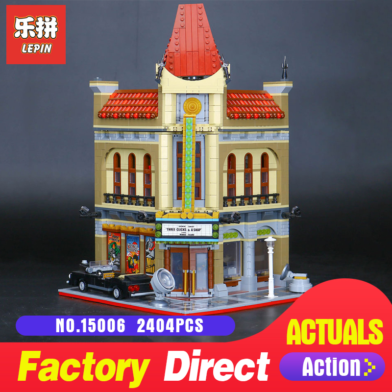 2354Pcs Lepin 15006 Street view Palace Cinema Model Building Blocks Set Bricks Toys Compatible 10232 Toys to Children gifts city street series 15006 2354pcs palace cinema building blocks creator compatible legoing 10232 bricks toys gifts for children