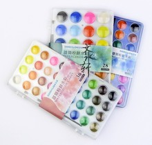 Taiwan Simbalion 16/28/36 Farben Professionelle Solide Aquarellfarben Outdoor Malerei Pigment Tragbare Skizze Farbe Nagelkunstwerkzeuge