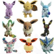 9Pcs/Set Eevee Vaporeon Plush Toys Dolls Soft Stuffed Animals Anime Figure Kids Toys For Children Birthday Gift Free Shipping
