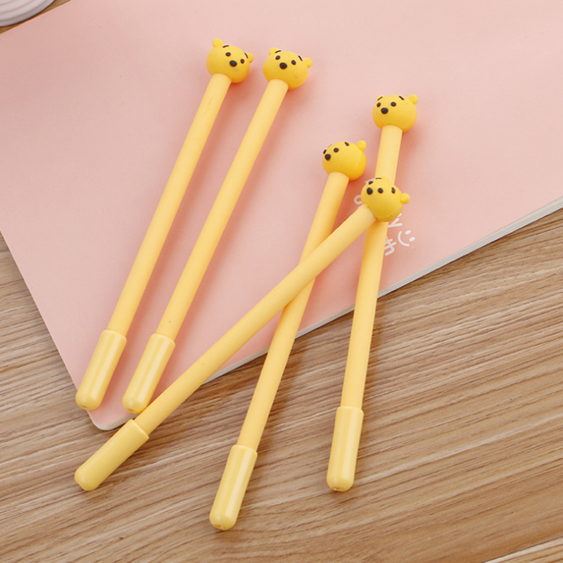 3 pcs/lot Cute Yellow bear gel pens kawaii stationery caneta material escolar office school supplies papelaria kids gifts
