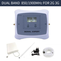 Full Smart 2g 3g Mobile Signal Repeater DUAL BAND 850 1900mhz Cellular Signal Cell Phone Booster