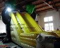 PVC gran tobogán inflable para niños y adultos/precio de fábrica de calidad comercial inflable tierra de diapositivas para la venta