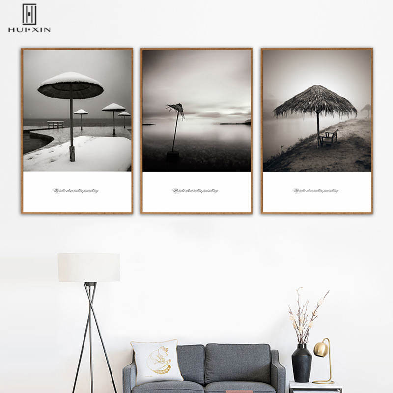 Minimalist Seascape Unframed Paintings Banda Near Bank Snow Scene Canvas Posters Art Pictures For Living Room Office Deocr