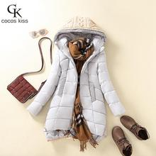2016 New Women's winter fashion color matching Wool hooded thickening cotton-padded clothes jacket thick warm coat