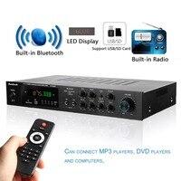 1120 Вт 220 В 5 канал Bluetooth Hi Fi Мощность усилитель 500 Вт + 500 Вт + 120 Вт цифровой стерео объемный звук дома усилитель караоке