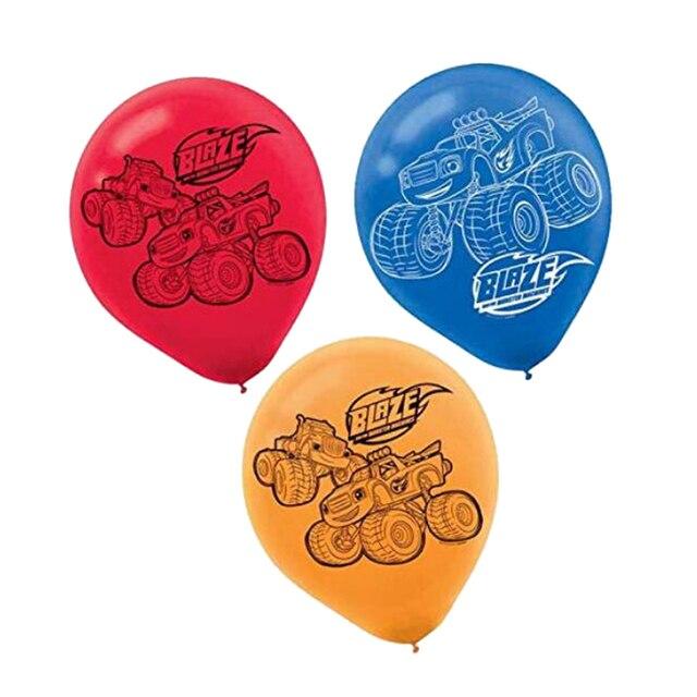 12 pçs/lote Incêndio Balão De Látex Inflável Decorações De Aniversário Chama e Mon Globos de balão Brinquedos Para Crianças