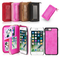 POLA Genuine Leather Case For IPhone6 6Plus 6s Plus 5 5s 5E Multi Functional Magnetic Removable