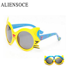 Fashion Kids Sunglasses Children Girls Bow Cartoon Cat Shades Eyeglasses Silicone Frame Glasses Gafas Oculos De Sol crianca
